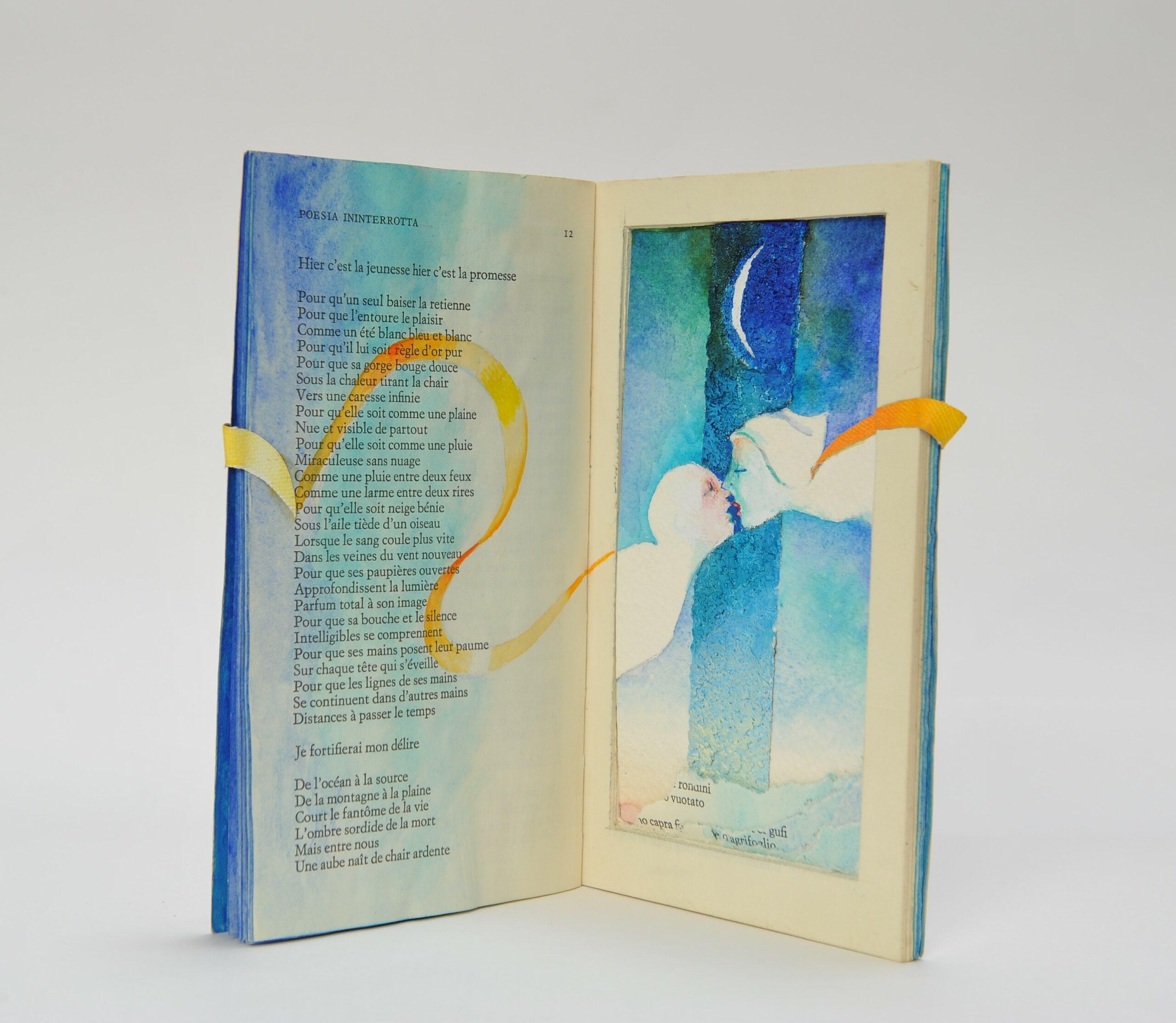"""""""Poesia ininterrotta"""" per La Collana Bianca si colora."""